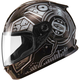Youth Black/Silver GM49 DJ Snow and Street Helmet w/Two Shields