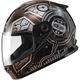 Youth Black/Silver GM49 DJ Snow and Street Helmet w/Two Shields