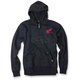 Black Honda Ride Red Moto Zip-Up Hoody
