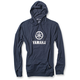 Navy Yamaha Stacked Lightweight Pullover Hoody