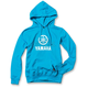 Women's Aqua Yamaha Stacked Pullover Hoody