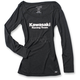 Women's Black Kawasaki Racing Long Sleeve Shirt