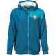 Blue Patch Zip Up Hoody