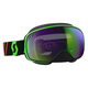 Black/Fluorescent Green LCG Snowcross Goggles w/Green Chrome Lens - 246437-5401309