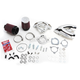 Chrome Single Bore Tuned Induction Air Cleaner Kit w/Red Filter - 170-0308A