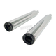 Chrome Slip-On Mufflers w/Black Billet Tips - 97012