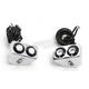 Chrome Side Mount Rat Eye LED Turn Signals - 05-208-RC