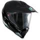 Black/White AX-8 Dual Sport EVO Helmet