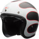 Black/White Custom 500 Carbon Ace Cafe Tonup Helmet