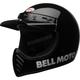 Black Moto-3 Classic Helmet