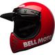 Red Moto-3 Classic Helmet