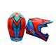 Orange/Blue Moto-9 Spark Helmet