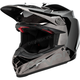 Black/Chrome Moto-9 Flex Seven Rogue Helmet