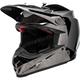 Black/Chrome Moto-9 Flex Seven Rogue Helmet