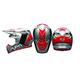 Silver/Black Moto-9 Flex Seven Rogue Helmet