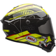 Black/Yellow Star Isle of Man Helmet