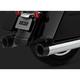 Chrome Oversized 450 Destroyer Slip-On Mufflers w/Black Tips - 16656