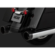 Chrome Oversized 450 Raider Slip-On Mufflers w/Black Tips - 16670
