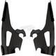 Black Quick Change Windshield Plate Kit for Fat/Slim Windshields - MEB1719
