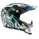 White/Cyan AX-8 EVO Helmet
