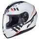 Semi-Flat White/Black/Red CS-R3 Space MC-10SF Helmet