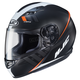 Semi-Flat Black/White/Red CS-R3 Space MC-7SF Helmet