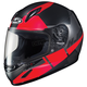 Youth Semi-Flat Black/Red/Gray CL-Y Boost MC-1SF Helmet