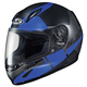 Youth Semi-Flat Black/Blue/Gray CL-Y Boost MC-2SF Helmet