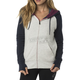 Women's Light Heather Gray Permafrost Polar Fleece Zip Hoody