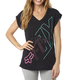 Women's Black Attent V-Neck T-Shirt