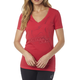 Women's Bright Rose Projected V-Neck T-Shirt