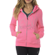 Women's Neon Pink Attent Zip Hoody