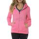 Women's Neon Pink Attent Zip Hoody