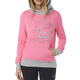 Women's Neon Pink Shaded Pullover Hoody