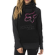 Women's Black Aired Pullover Hoody