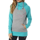 Women's Heather Gray Aired Pullover Hoody