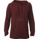 Heather Burgundy Pitted Hooded Long Sleeve Shirt