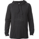 Heather Black Pitted Hooded Long Sleeve Shirt
