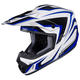White/Blue/Black CS-MX II Edge MC-2 Helmet