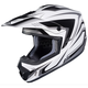 White/Black/Gray CS-MX II Edge MC-5 Helmet