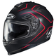 Semi-Flat Black/Red IS-17 Lank MC-1SF Helmet