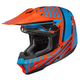 Orange/Turquoise CL-X7 Hero MC-26 Helmet