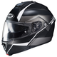 Semi-Flat Black/White IS-Max2 Mine MC-5SF Helmet