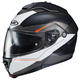 Semi-Flat Black/White IS-Max2 Magma MC-5SF Helmet