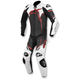 Black/White/Red GP Plus 1-Piece Leather Race Suit