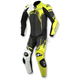 Black/White/Flo Yellow GP Plus 1-Piece Leather Race Suit