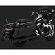 Black Eliminator 400 Slip-On Mufflers - 46714