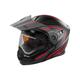Flat Red/Black EXO-CX950 Apex Snow Helmet w/Electric Shield