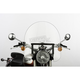 17 in. Clear SS-30 Classic Windshield w/Black Quick Release Hardware - SS-30-17CWQB