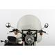 17 in. Smoke SS-30 Classic Windshield w/Black Quick Release Hardware - SS-30-17TQB